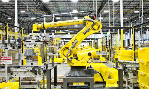 Robots in use as factory automation.